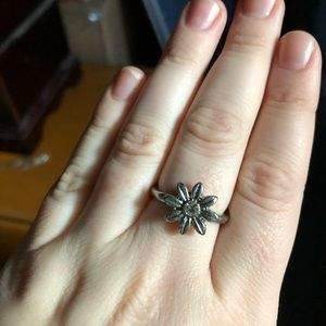 LC LAUREN CONRAD Stackable flower rings. Like new!